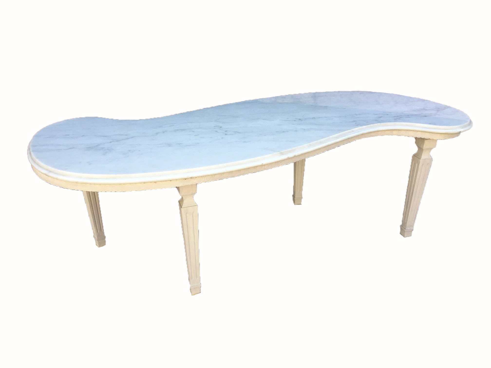 Italian Renaissance Style Marble Top Coffee Table