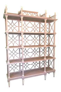 Large Chinese Chippendale Etagere