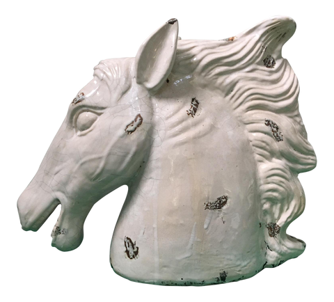 Hollywood Regency Ceramic Horse Head Sculpture
