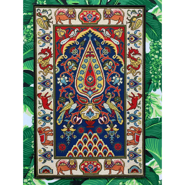 Large Vintage Needlepoint Wall Hanging