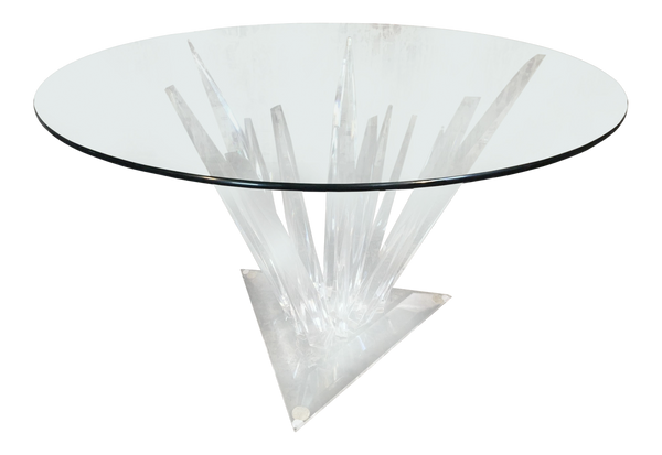 Lucite Stalagmite Dining Table in the Manner of Haziza