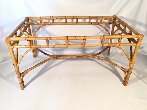 Mid-Century Bamboo Dining Table Base