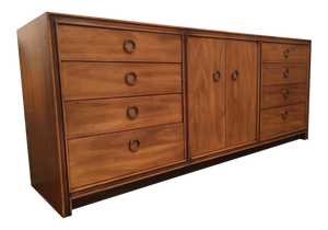Mid Century Hollywood Regency Eleven Drawer Dresser by Hickory