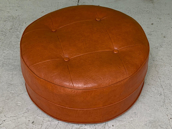 Mid Century Round Hassock or Footstool top view