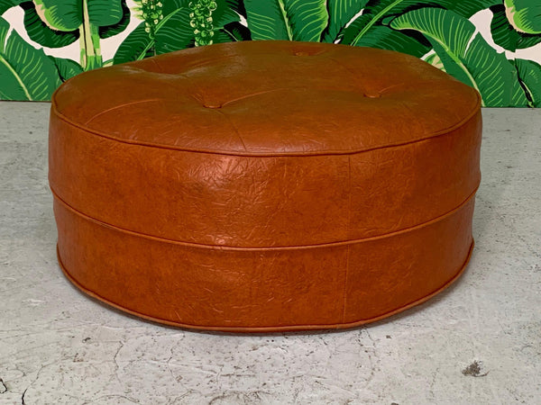 Mid Century Round Hassock or Footstool side view