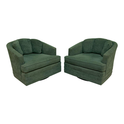 Mid Century Swivel Club Chairs by Kaylyn, a Pair