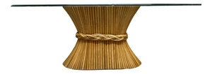 Oval Sheaf of Wheat Dining Table in the Manner of McGuire