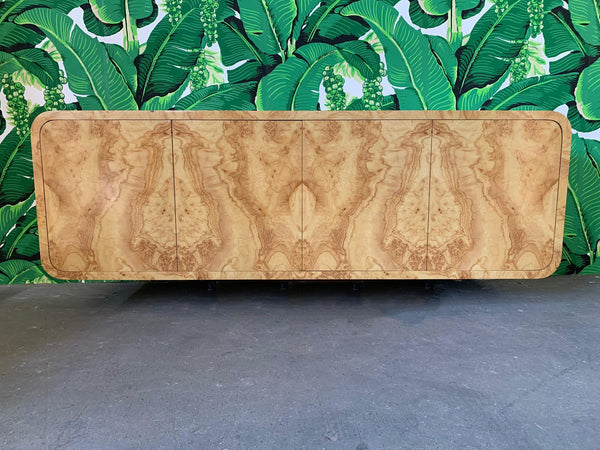 Pace Collection Floating Burl Wood Credenza