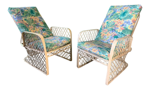 Pair of Russell Woodard Spun Fiberglass Adjustable Lounge Chairs