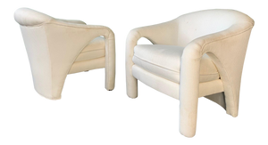 Pair of Vladimir Kagan Sculptural Club Chairs