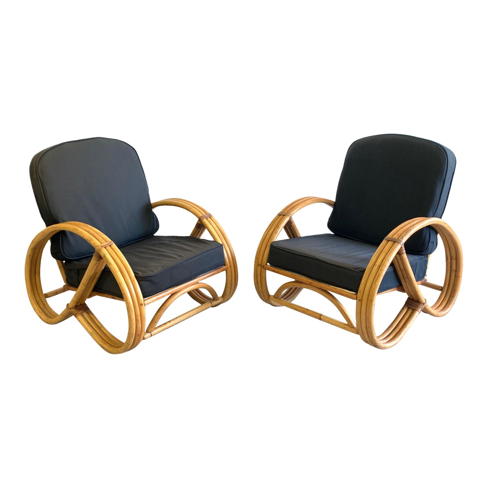 Paul Frankl Style Pretzel Chairs, a Pair