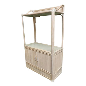 Pencil Reed Rattan Etagere