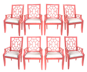 Asian Chinoiserie Dining Chairs from the Breakers Hotel