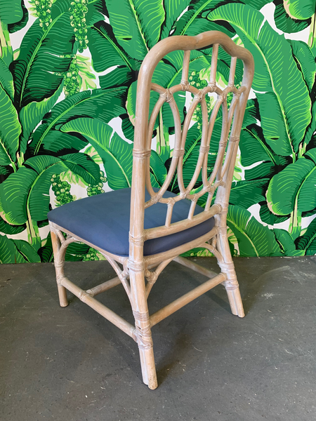 Rattan Loop Back Dining Chairs by Lexington - Set of Six rear view