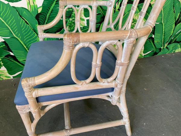 Rattan Loop Back Dining Chairs by Lexington - Set of Six side view