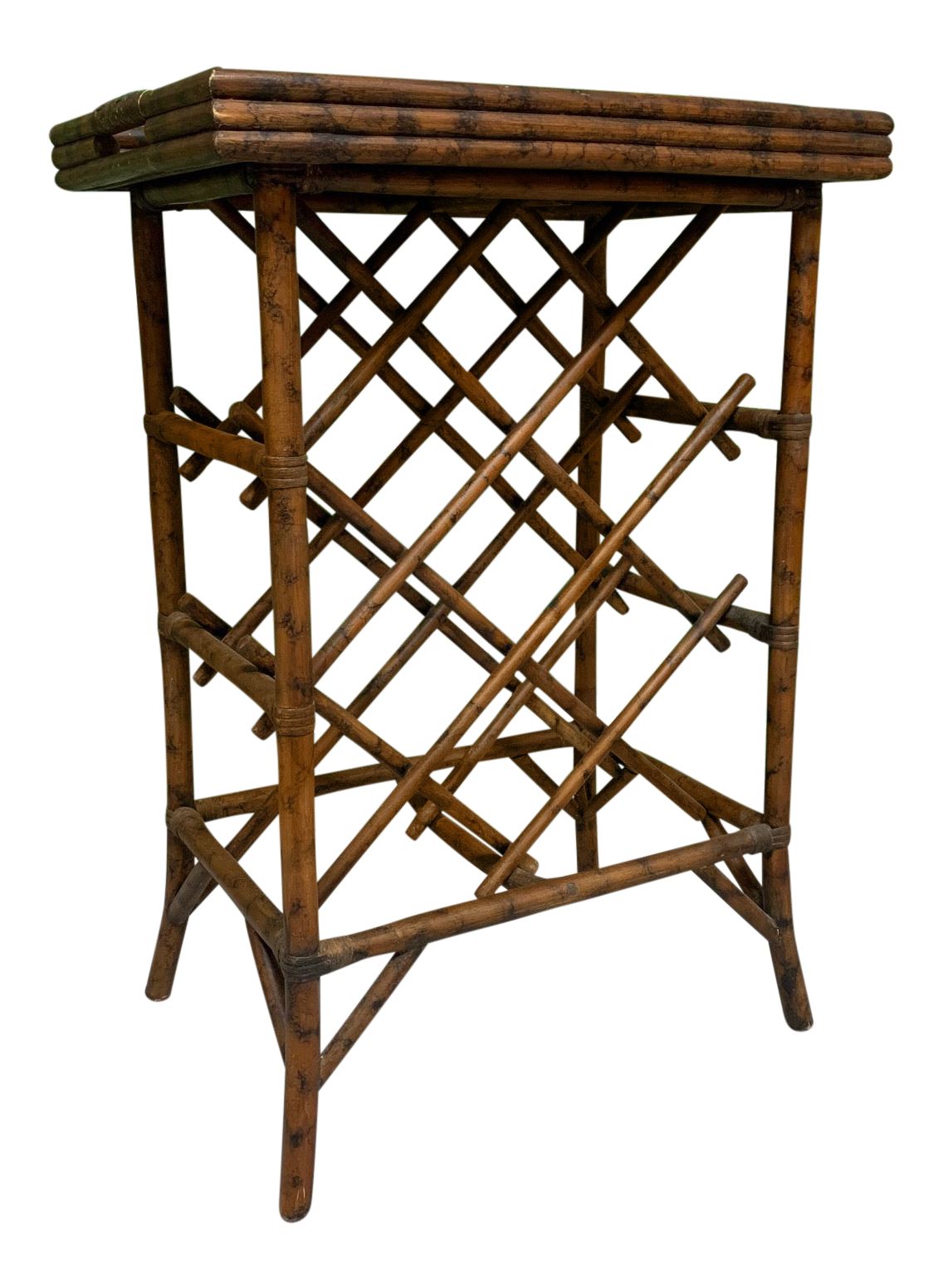Rattan Wine Rack Tray Table