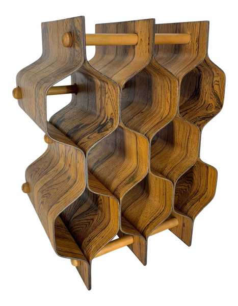 Rosewood Wine Rack by Torsten Johansson for Ab Formträ