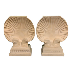 Sculptural Shell Table Base in the Manner of Serge Roche or Grosfield House, a Pair