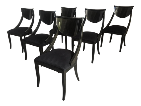 Set of 6 Sculptural Dining Chairs by Pietro Constantini for Ello