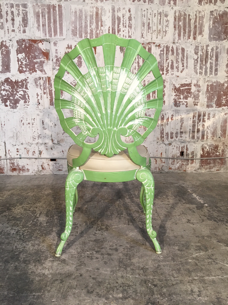 Set of Four Shell Back Grotto Chairs in Cast Aluminium by Brown Jordan