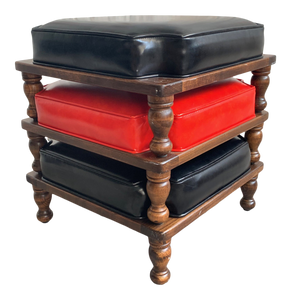 Set of Three Stackable Footstools by Ethan Allen