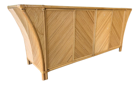 Split Pencil Reed Sculptural Credenza