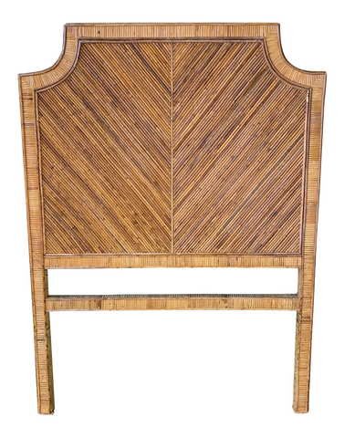 Split Reed Rattan Twin Headboard