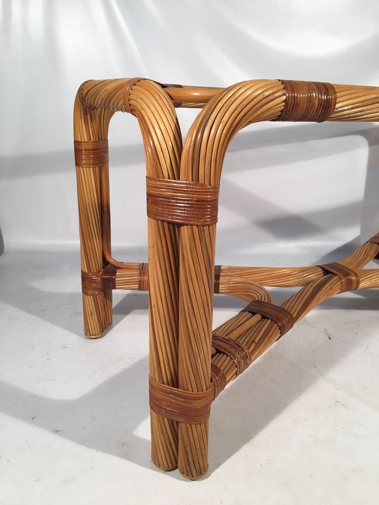 Twisted Rattan Dining Table Base Marjorie And Marjorie