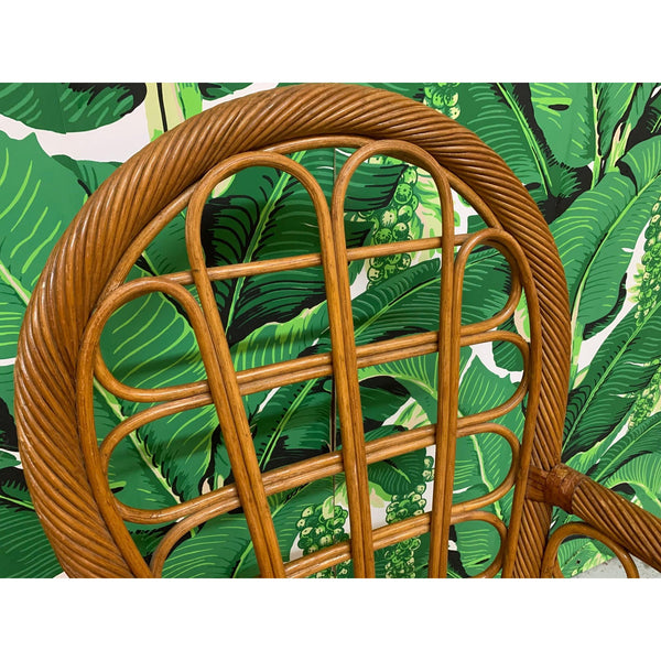 Twisted Rattan High Back Dining Chairs, Set of 4