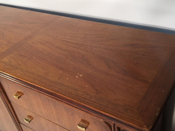 Vintage Art Deco 12-Drawer Dresser by Century