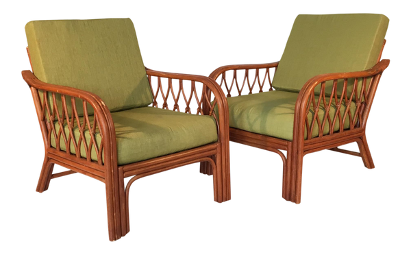 Vintage Bamboo Lounge Chairs