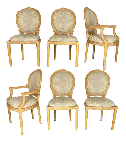 Vintage Faux Bois Dining Chairs