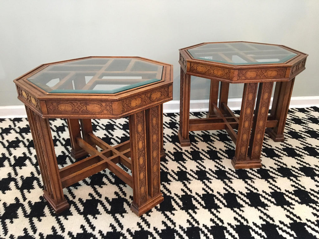 Pleasant Pair Of Vintage Henredon Asian Chinoiserie End Tables Andrewgaddart Wooden Chair Designs For Living Room Andrewgaddartcom