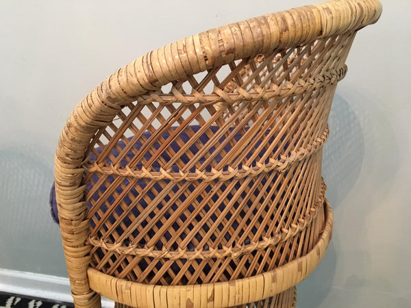 Pair of Vintage Wicker Bar Stools