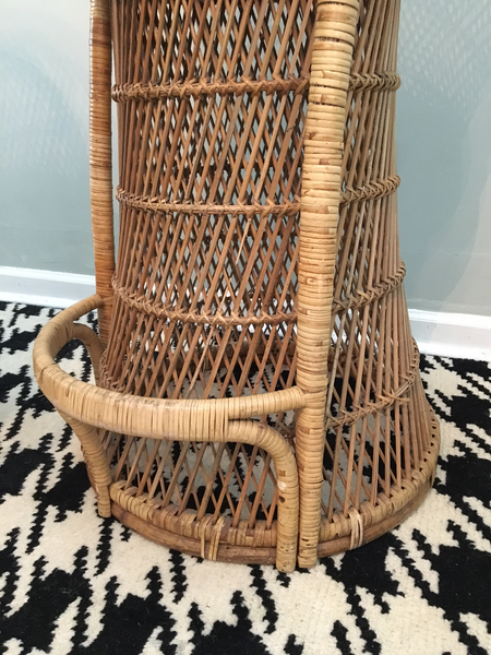Vintage Wicker Bar Stools bottom