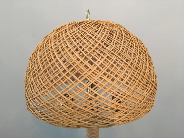Wicker and Rattan Floor Lamp Shade
