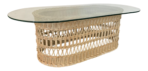 Woven Rattan and Wicker Coffee Table
