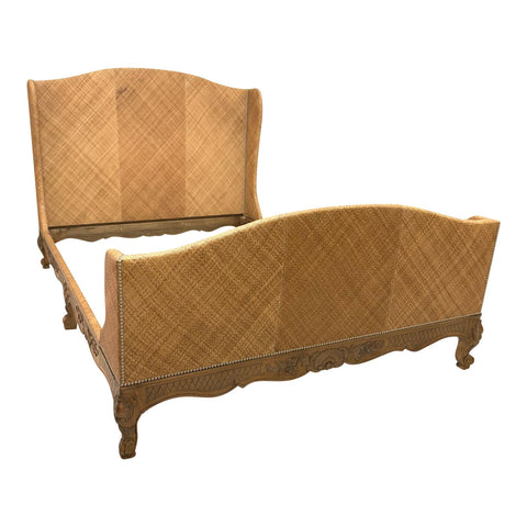 Woven Wicker Queen Size Bed by Ralph Lauren