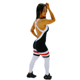 BUTT SCRUNCH  BREATHABLE TRICOLOR JUMPSUIT - Iris Fitness home of good quality leggings with really good prices