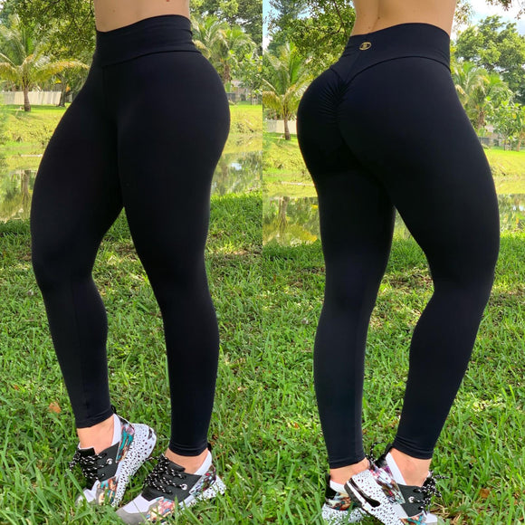 BUTT SCRUNCH BLACK LEGGINGS - Iris Fitness home of good quality leggings with really good prices