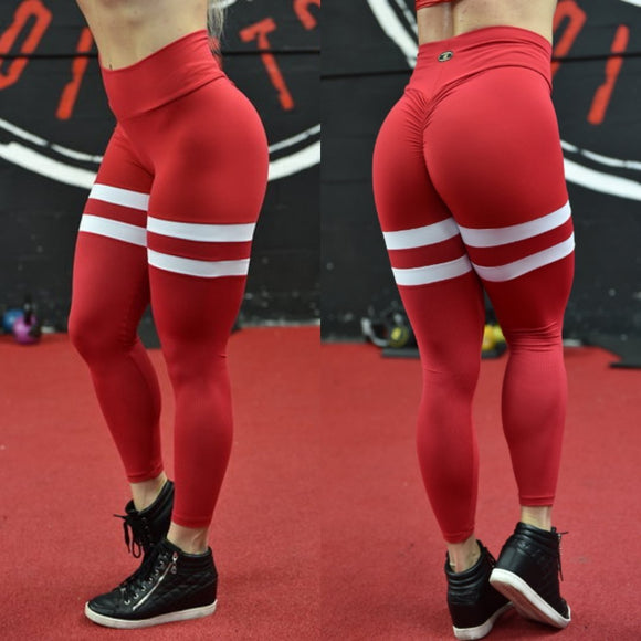 BUTT SCRUNCH  BREATHABLE RED LEGGINGS - Iris Fitness home of good quality leggings with really good prices