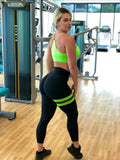 BUTT SCRUNCH GREEN NEON LEG BAND LEGGINGS - Iris Fitness home of good quality leggings with really good prices