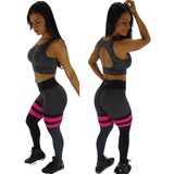 BUTT SCRUNCH PINK TH-IRIS GRAY & BLACK LEGGINGS - Iris Fitness home of good quality leggings with really good prices