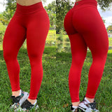BUTT SCRUNCH RED LEGGINGS - Iris Fitness home of good quality leggings with really good prices