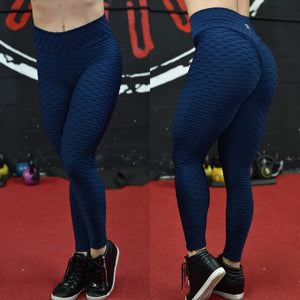 BUTT SCRUNCH TEXTURE WAVE DARK BLUE LEGGINGS - Iris Fitness home of good quality leggings with really good prices