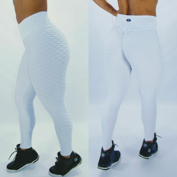 BUTT SCRUNCH TEXTURE WAVE WHITE LEGGINGS - Iris Fitness home of good quality leggings with really good prices