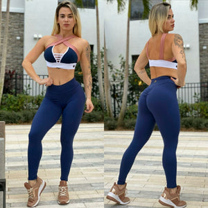 NAVY BLUE BUTT SCRUNCH LEGGINGS - Iris Fitness home of good quality leggings with really good prices