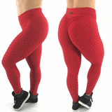 SCRUNCH BOOTY TEXTURE WAVE RED LEGGINGS - Iris Fitness home of good quality leggings with really good prices