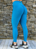SCRUNCH BOOTY TEXTURE WAVE RIPPED SKY BLUE LEGGINGS - Iris Fitness home of good quality leggings with really good prices