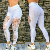 SCRUNCH BOOTY TEXTURE WAVE RIPPED WHITE LEGGINGS - Iris Fitness home of good quality leggings with really good prices